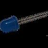 Светодиод круглый выводной 10 мм 70 град. 1 кд диффузный синий