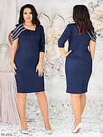 Красивое вечернее приталенное трикотажное платье с люрексовой нитью р:48,50,52, 54, 56, 58 арт. 806 (ал-коз).