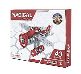 """Металевий конструктор """"Серія Рятувальники"""" Build and Play Tools 816B-3 (Літак)"""