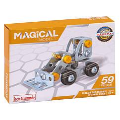 """Металевий конструктор """"Серія Будівельники"""" Build and Play Tools 816B-3 (Планувальний трактор)"""