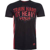 Футболка Venum Train Hard Hit Heavy T-Shirt Black (VENUM-13139)