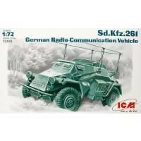 Сборная модель Немецкий бронеавтомобиль радиосвязи Sd.Kfz.261, ICM (ICM72441)