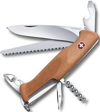 Армейский отличный складной нож Victorinox RangerWood 55, 09561.63 коричневый