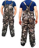 Демисезонный костюм Камуфляж Лес мембранная ворса alova+флис для охоты и рыбалки