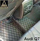 Шкіряні Килимки Audi А8 D4 з Екошкіри 3D (2010-2017) Килимки Ауді А8, фото 6