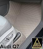 Шкіряні Килимки Audi А8 D4 з Екошкіри 3D (2010-2017) Килимки Ауді А8, фото 8