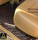 Кожаные Коврики Porsche Cayenne из Экокожи 3D (2002-2010) Коврики Порше Кайен, фото 6