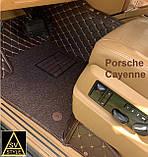 Кожаные Коврики Porsche Cayenne из Экокожи 3D (2002-2010) Коврики Порше Кайен, фото 8