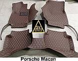Кожаные Коврики Porsche Macan из Экокожи 3D (2013+) Коврики Порше Макан, фото 10