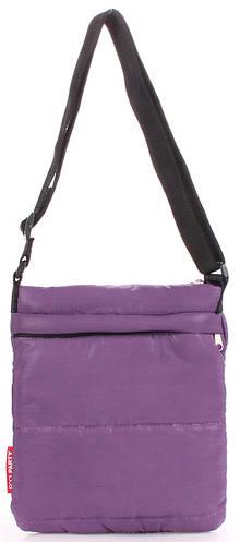 Фиолетовая женская сумка -планшет из болоньи POOLPARTY pool-59-puffy-violet