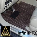 Шкіряні Килимки Infiniti QX56 з Екошкіри 3D (2002-2010) Кворики Інфініті 56, фото 5
