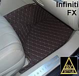 Шкіряні Килимки Infiniti QX56 з Екошкіри 3D (2002-2010) Кворики Інфініті 56, фото 7