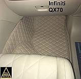 Шкіряні Килимки Infiniti QX56 з Екошкіри 3D (2002-2010) Кворики Інфініті 56, фото 6