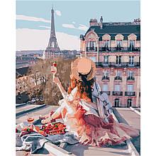 Картина по Номерам На крышах Парижа 40х50см Strateg