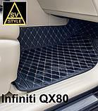 Кожаные Коврики Infiniti QX80 из Экокожи 3D (2010+) Коврики Инфинити 80, фото 3