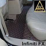 Кожаные Коврики Infiniti QX80 из Экокожи 3D (2010+) Коврики Инфинити 80, фото 7