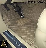 Кожаные Коврики Infiniti QX80 из Экокожи 3D (2010+) Коврики Инфинити 80, фото 9