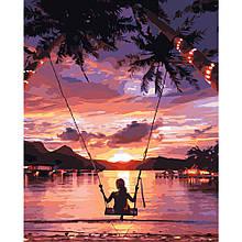 Картина по Номерам Катание на закате 40х50см Strateg