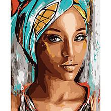 Картина по Номерам Девушка Африки 40х50см Strateg