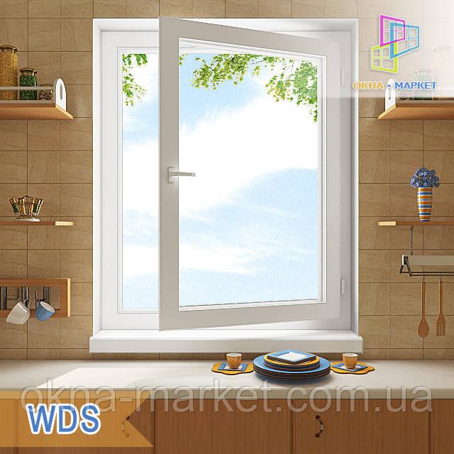 """Одностворчатое поворотно-откидное окно 800x1400 ВДС 6 серия """"Окна Маркет"""""""