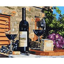 Картина по Номерам Вино для двоих 40х50см Strateg