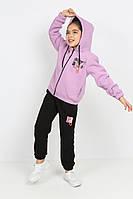 """Спортивный костюм детский на флисе с капюшоном на девочку 5-9 лет(2цв)""""Star Kids""""купить оптом в Одессе на 7 км"""