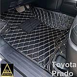 Шкіряні Килимки Toyota Prado 120 з Екошкіри 3D (2002-2009) Килимки Тойота Прадо 120, фото 7