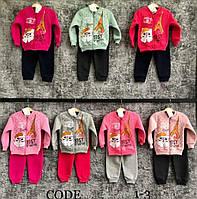 """Спортивный костюм детский на флисе на девочку 1-3 года (7 цв) """"BAMBINI"""" купить оптом в Одессе на 7км"""