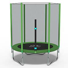 Батут FitToSky 140 см з сіткою зелений