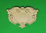 Код КА 2. Резной деревянный декор для мебели. Картуш, фото 4