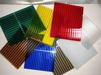 Поликарбонат сотовый 6х2100х6000 мм  6мм разные цвета