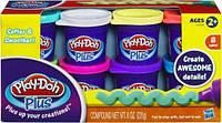 Набор пластилина Play-Doh PLUS из 8 банок Hasbro