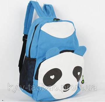 Рюкзак панда разных цветов в аниме стиле голубой