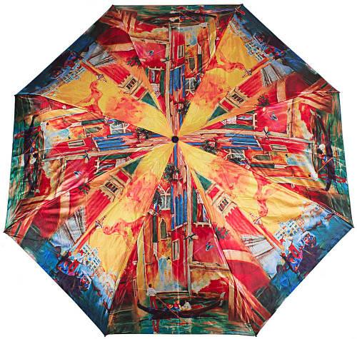 Яркий женский зонт компактный автомат ZEST(ЗЕСТ), Z24984-3 Антиветер!