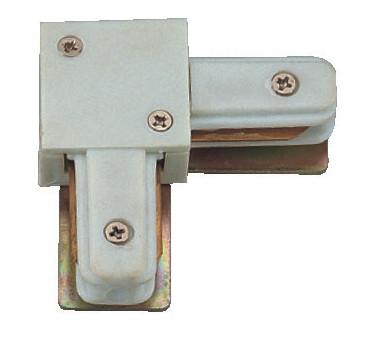 """Коннектор """"L"""" белый для трекового светильник"""