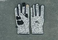 Перчатки Staff light gray melenge fleece size S-M