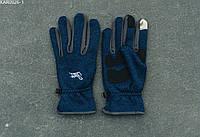 Перчатки Staff navy melange fleece size S-M