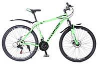 Горный Велосипед Champion Lector взрослый колеса 29 дюймов, алюминиевая рама 21 дюйм вес 15кг - Неоновый