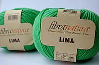 Нитки для вязания Fibranatura Lima зеленый