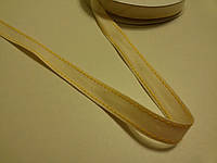 Лента - тесьма молочная с желтым