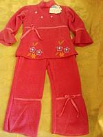 Теплый розовый костюм  на девочку , фото 1