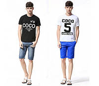 Футболка мужская чёрная и белая COCO