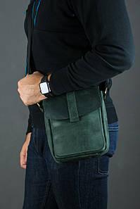 Шкіряна чоловіча сумка Вільям, натуральна Вінтажна шкіра колір Зелений
