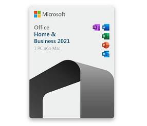 Ліцензійний Office 2021 Home & Business for pc/mac Офіс 2021 для Дому та Бізнесу електронний ключ