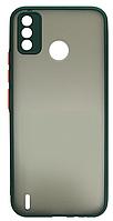 Накладка Tecno Spark6 Go dark green bamper Mat Case Gelius