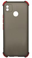 Силікон Tecno POP4 black Glossy Battons
