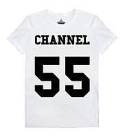 """Футболка женская белая Шанель """"CHANEL 55"""""""