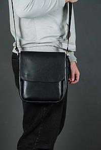 Шкіряна чоловіча сумка Брюс, натуральна шкіра італійський Краст колір Чорний