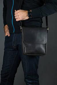 Шкіряна чоловіча сумка Брюс, натуральна Вінтажна шкіра колір коричневый, оттенок Шоколад