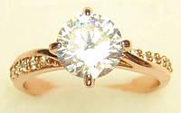 Позолоченное кольцо с фианитом G2 17 украшения бижутерия ювелирные изделия
